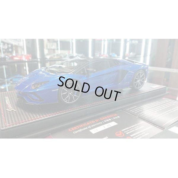 画像1: MR Collection 1/18 Lamborghini Aventador S Blu Elektra / Carbonium