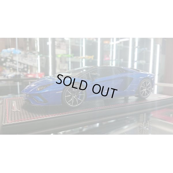 画像2: MR Collection 1/18 Lamborghini Aventador S Blu Elektra / Carbonium