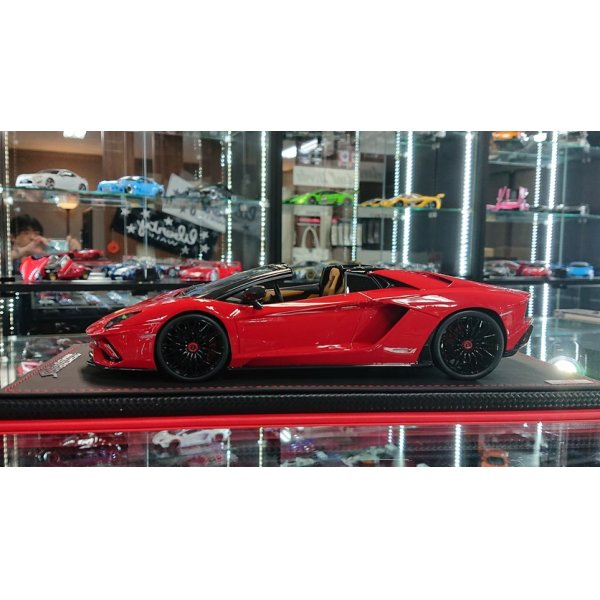 画像2: MR Collection 1/18 Lamborghini Aventador S Road Ster Rosso Mars Limited 49pcs.