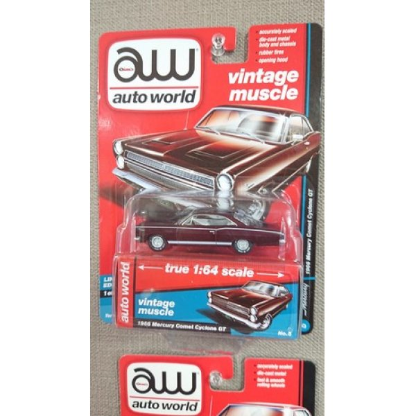 画像1: auto world 1:64 '66Mercury Comet Cyclone GT Dark Red