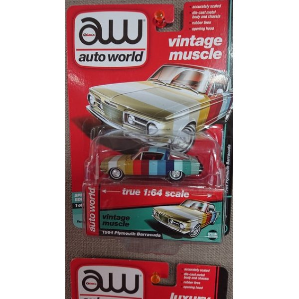 画像1: auto world 1:64 '64 Plymouth Barracuda