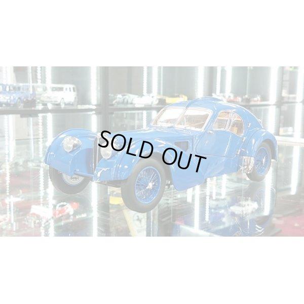 画像1: Autoart 1/18 BUGATTI 57S ATLANTIC 1938 Blue / With Blue Metal Wire  Spoke Wheels