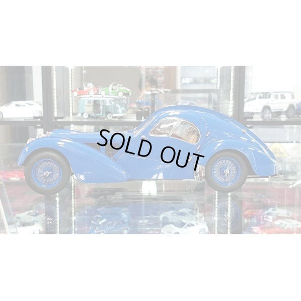 画像2: Autoart 1/18 BUGATTI 57S ATLANTIC 1938 Blue / With Blue Metal Wire  Spoke Wheels