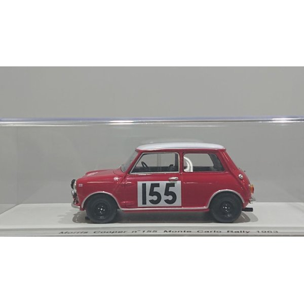 画像2: Spark model Morris Cooper n°155 Monte Carlo Rally 1963