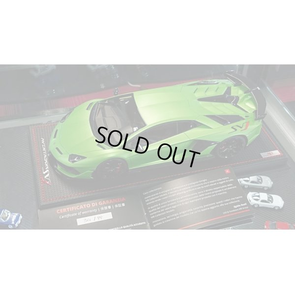 画像4: MR Collection 1/18 Lamborghini Aventador SVJ Verde Alceo Limited 99pcs.
