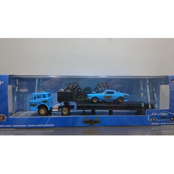 画像1: M2 MACHINES 1:64 '66 Ford C-950 Truck & '66 Ford Mustang Fastback 2+2