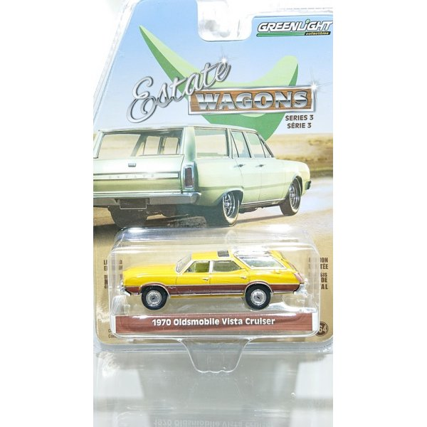 画像1: GREEN LIGHT 1:64 ESTATE WAGON Series 3 '70 Oldsmobile Vista Cruiser