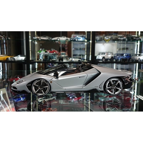 画像2: Autoart 1/18 Lamborghini Centenario Roadster Matt Silver