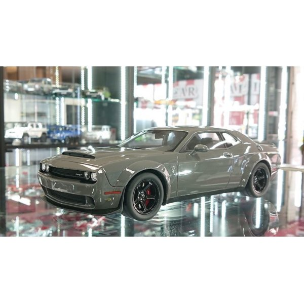 画像1: GT Spirit 1/18 Dodge Challenger SRT Demon Gray