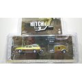 GREEN LiGHT 1:64 HITCH&TOW Series 17 '71 Oldsmobile Vista Cruiser and Teardrop Trailer