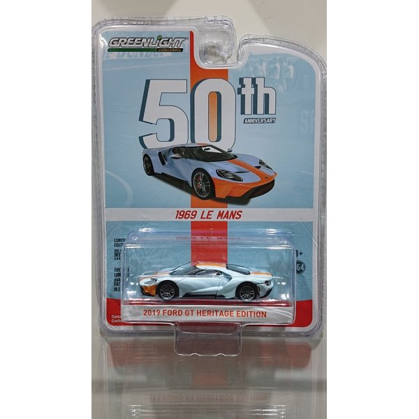 画像1: GREEN LiGHT  1:64 Anniversary Collection Series 8 '19 FORD GT HERITAGE EDITION