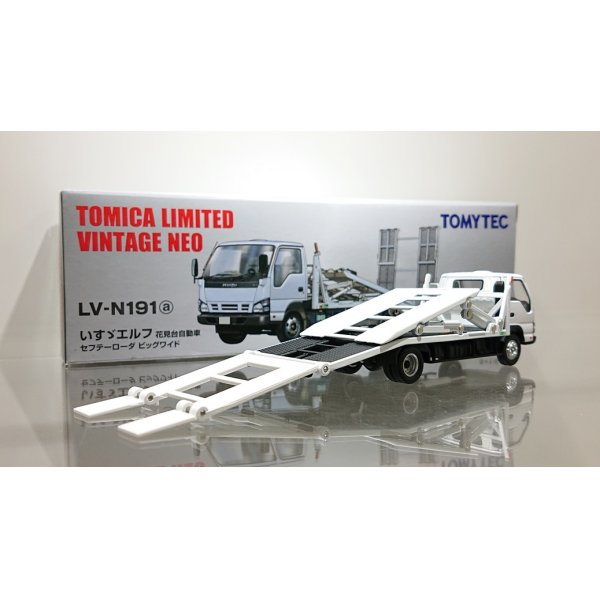 画像2: TOMYTEC 1/64 Limited Vintage ISUZU ELF Safety Loader Hanamidai Motor Big Wide White