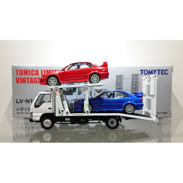 画像3: TOMYTEC 1/64 Limited Vintage ISUZU ELF Safety Loader Hanamidai Motor Big Wide White