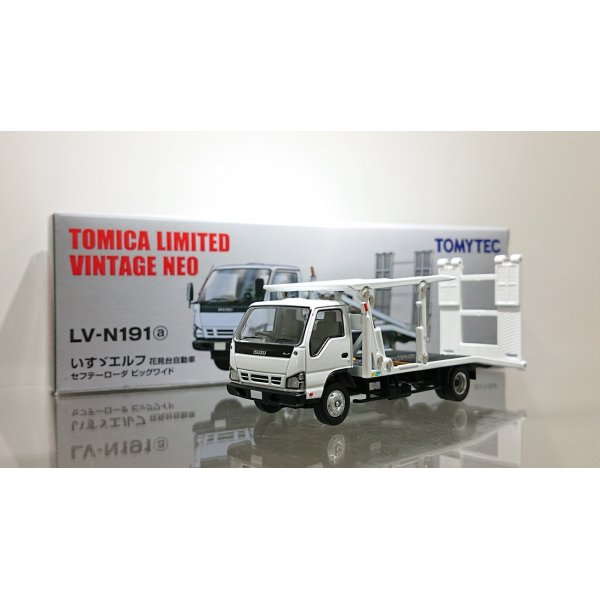画像1: TOMYTEC 1/64 Limited Vintage ISUZU ELF Safety Loader Hanamidai Motor Big Wide White
