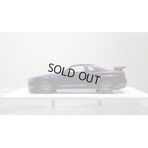 画像2: EIDOLON 1/43 NISSAN SKYLINE GT-R (BNR34) V-spec Special Edition 1999 Limited 50pcs. Midnight Purple 2
