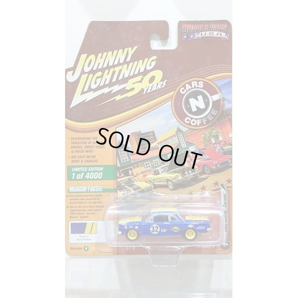 画像1: Johnny Lightning 1:64 Muscle Cars USA - Release 20-A '62 Chevy Corvair Blue w/Yellow SUNOCO
