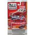auto world 1:64 Premium 64 Release 11-B '64 Plymouth Barracuda Ruby Red w/White Stripe