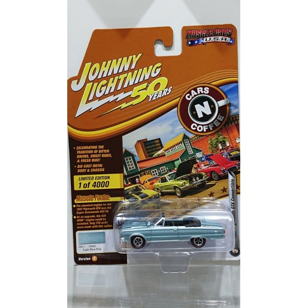 画像1: Johnny Lightning 1:64 Muscle Cars USA - Release 20-B '67 Plymouth GTX Convertible Light Blue w/Black