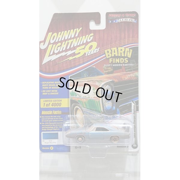 画像1: Johnny Lightning 1:64 Muscle Cars USA - Release 20-B '69 Dodge Daytona(Dirty) B5 Blue w/Flat Black