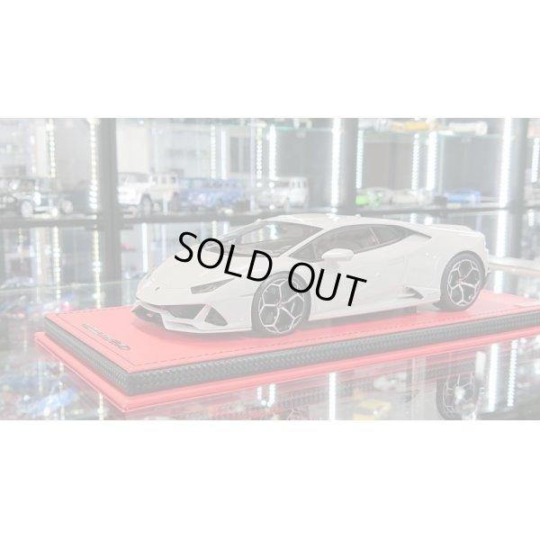 画像1: MR Collection Models 1/18 Lamborghini Huracan Evo Bianco Icarus Metallic Limited 49pcs.