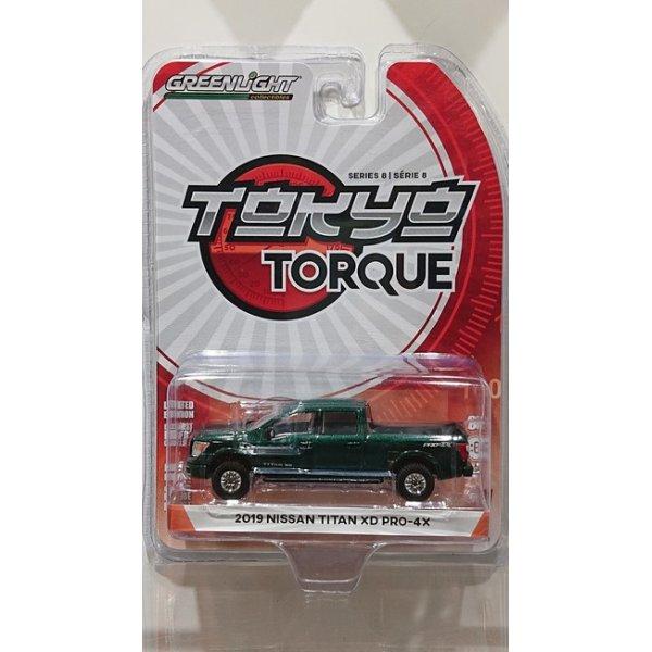 画像1: GREEN LiGHT 1/64 Tokyo Torque Series 8 '19 Nissan Titan XD Pro-4X - Midnight Pine Metallic