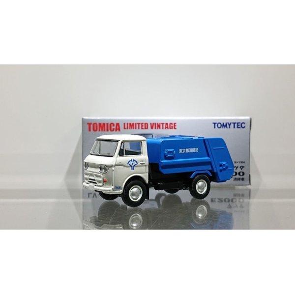 画像1: TOMYTEC 1/64 Limited Vintage Mazda E2000 Garbage Truck (White/Blue)