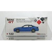 MINI GT 1/64 BMW M4 (F82) Yas Marina Blue Metallic (RHD)