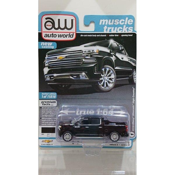 画像1: auto world 1/64 '19 Chevrolet Silverado High Country in Gloss Black