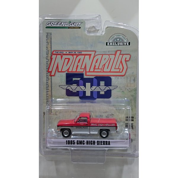 画像1: GREEN LiGHT EXCLUSIVE 1/64 '85 GMC High Sierra 69th Annual Indianapolis 500 Mile Race GMC Indy Hauler Official Truck