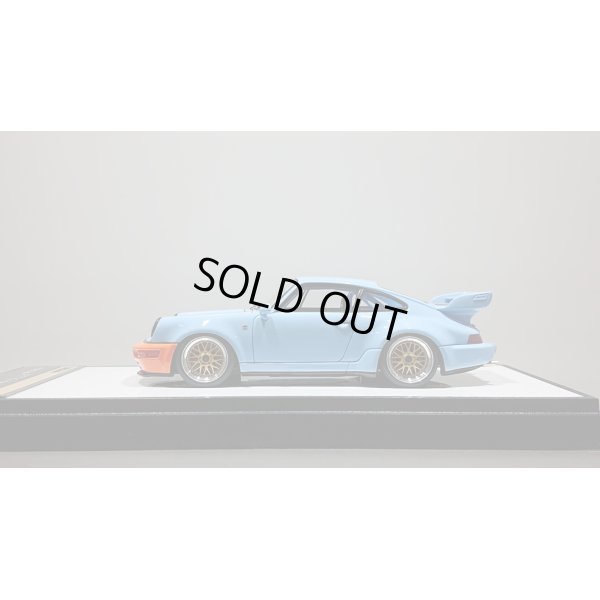 画像2: VISION 1/43 Porsche 911 (964) RSR 3.8 1993 (BBS wheel) Gulf Blue Orange stripe Limited 100pcs.