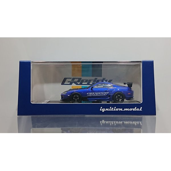 画像1: ignition model 1/64 Toyota Supra (JZA80) RZ Blue Metallic GReddy Ver.