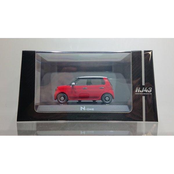 画像1: Hobby JAPAN 1/43 Honda N-ONE (2020) Red / White