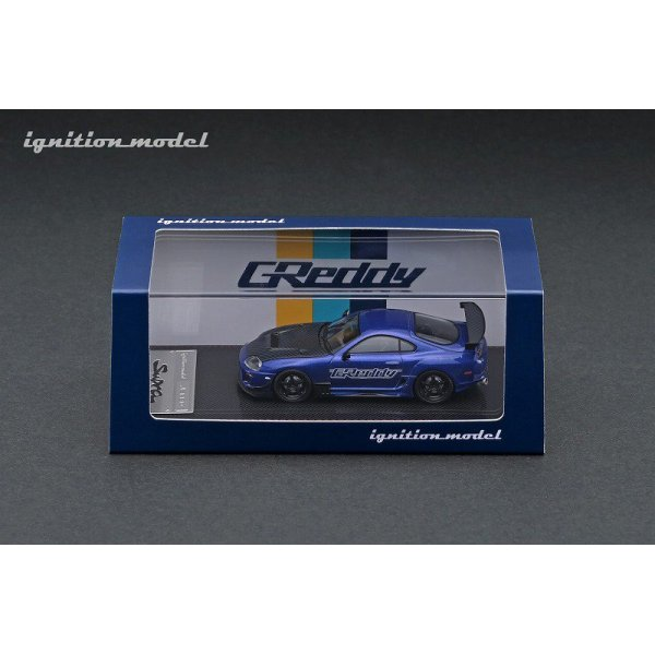 画像4: ignition model 1/64 Toyota Supra (JZA80) RZ Blue Metallic GReddy Ver.
