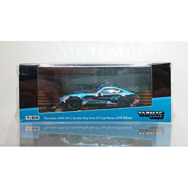 画像1: Tarmac Works 1/64 Mercedes-AMG GT4 Greater Bay Area GT Cup Macau 2019 Winner