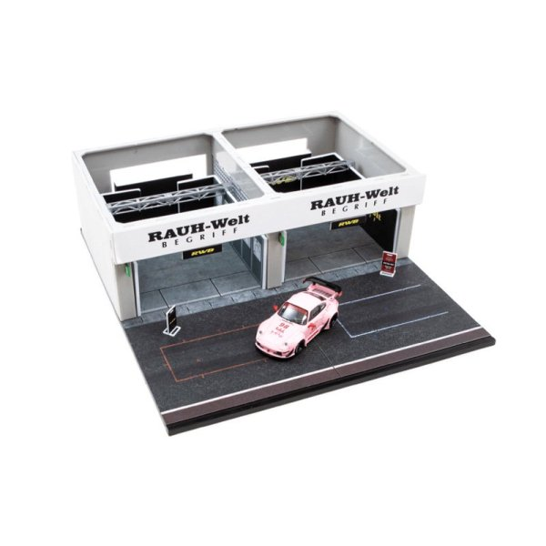 画像2: Tarmac Works 1/64 Racing Pit Garage - RWB + RWB 993 Hooters