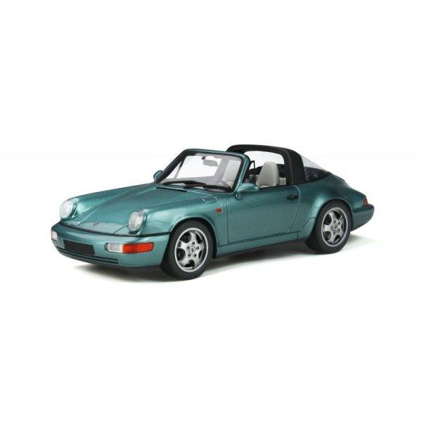 画像1: GT Spirit 1/18 Porsche 911 (964) Carrera 4 Targa (Turquoise)
