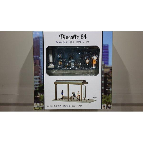 画像1: TOMYTEC 1/64 Diorama Collection 64 # Car Snap 05a バス停