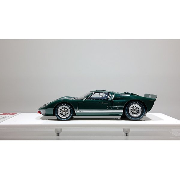 画像2: EIDOLON 1/43 GT40 Mk.II Street ver. 1966 Dark Green / Silver Stripe Limited 80 pcs.