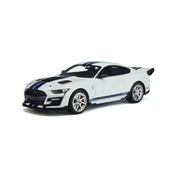 画像1: GT Spirit 1/18 Shelby GT500 Dragon Snake White / Blue Stripe