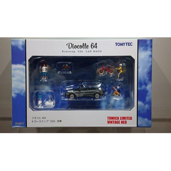 画像1: TOMYTEC 1/64 Diorama Collection 64 # Car Snap 02b 洗車