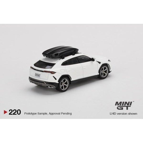 画像2: MINI GT 1/64 Lamborghini Urus Bianco Monocerus Matt w / Roof Box (RHD)