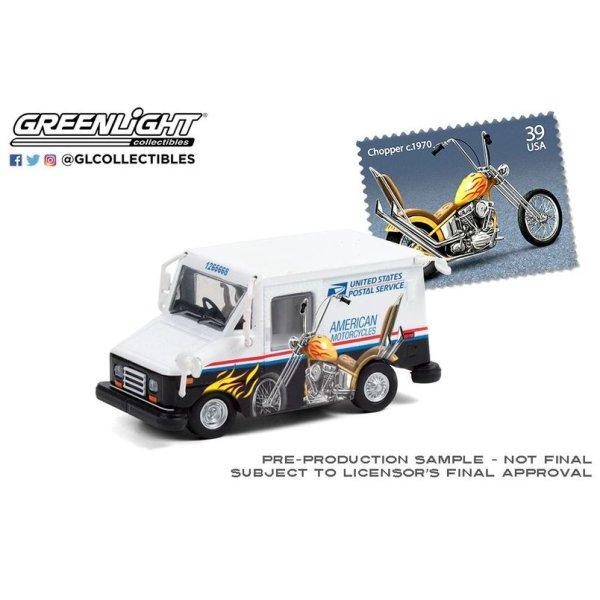 画像2: GREEN LiGHT EXCLUSIVE 1/64 USPS Long-Life Postal Delivery Vehicle (LLV) --American Motorcycles Collectible Stamps LLV
