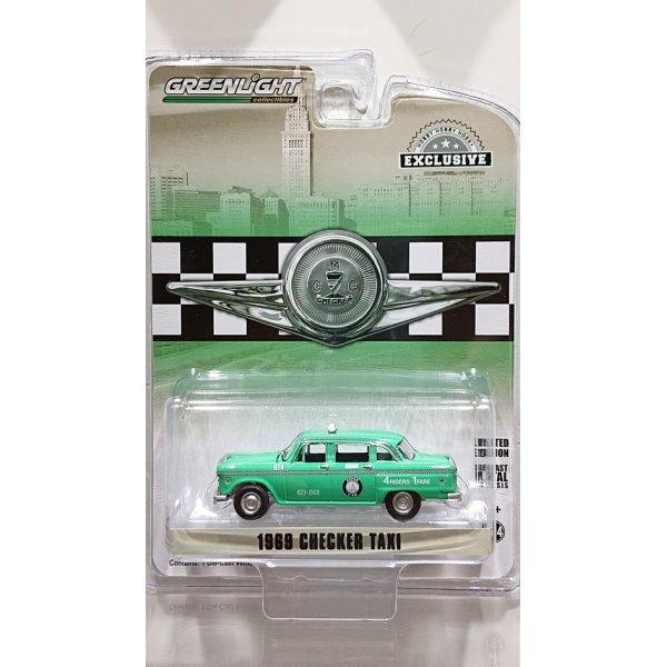 画像1: GREEN LiGHT EXCLUSIVE 1/64 1969 Checker Motors Marathon A11 Staten Island New York Zone Cab Road America Official Pace Car