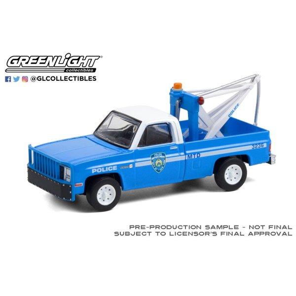 画像2: GREEN LiGHT EXCLUSIVE 1/64 1987 GMC Sierra K2500 with Drop in Tow Hook --New York City Police Dept (NYPD)