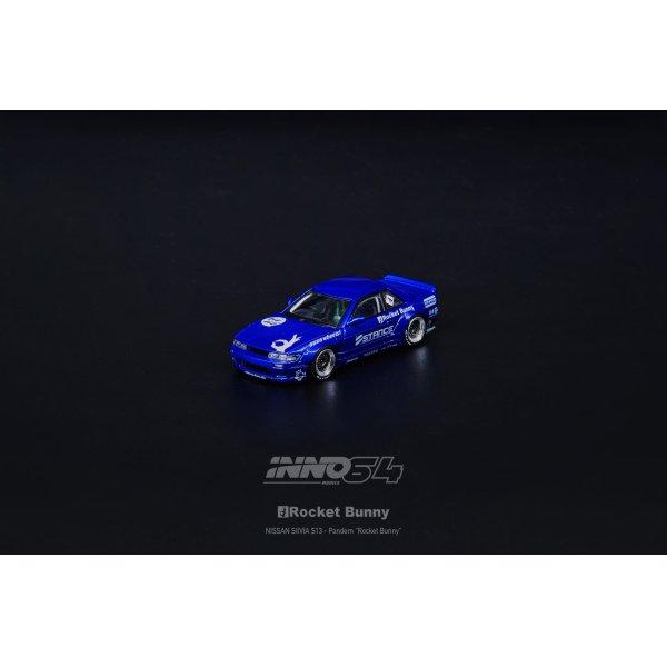 画像3: INNO Models 1/64 Nissan Silvia S13 ROCKET BUNNY V2 Blue Metallic