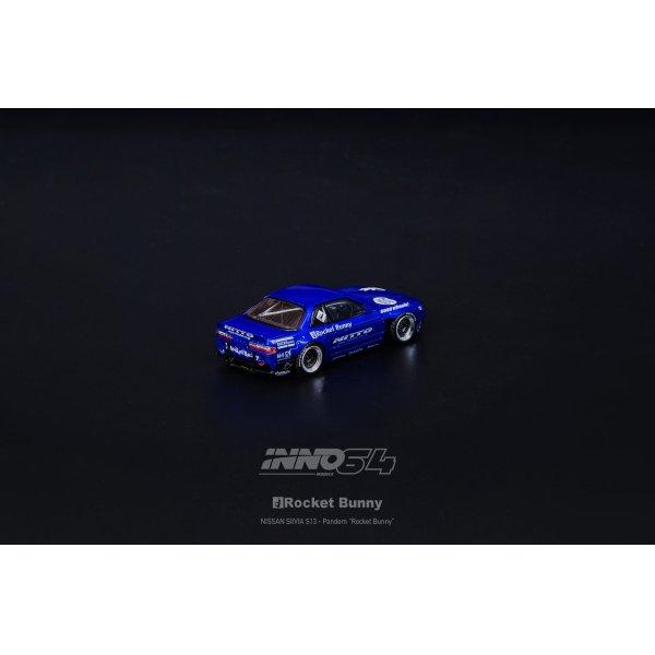 画像4: INNO Models 1/64 Nissan Silvia S13 ROCKET BUNNY V2 Blue Metallic