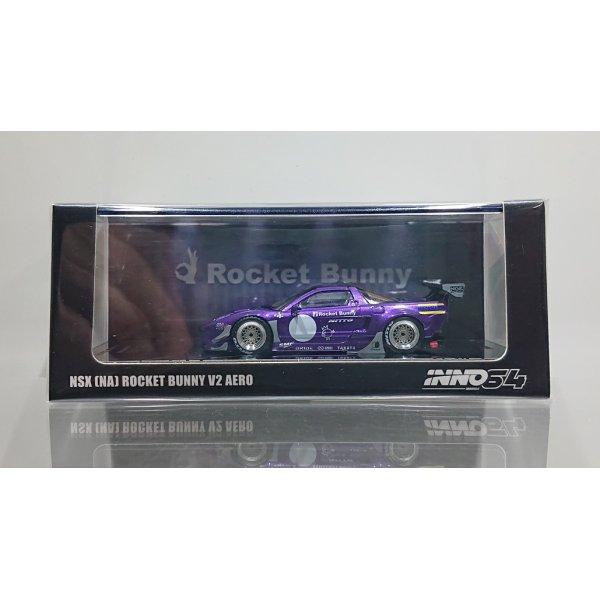 画像1: INNO Models 1/64 NSX (NA1) ROCKET BUNNY V2 AERO Metallic Purple