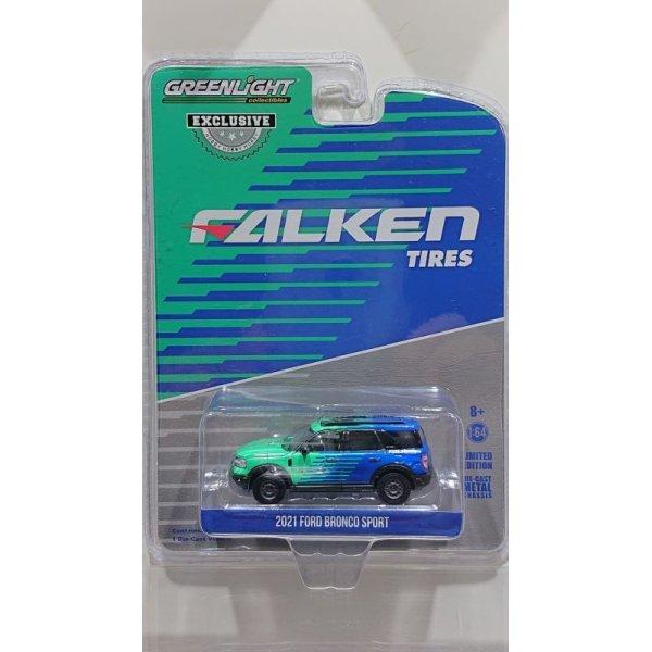 画像1: GREEN LiGHT EXCLUSIVE 1/64 2021 Ford Bronco Sport --Falken Tires