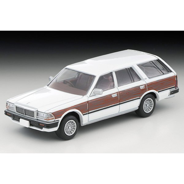 画像2: TOMYTEC 1/64 Limited Vintage NEO Nissan Cedric Wagon V20E GL Custom Ver. (White / Wood grain)