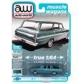 auto world 1/64 1963 Chevy II 400 Nova Station Wagon Azure Aqua